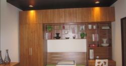 现代衣柜+板式床