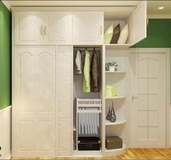 现代衣柜+圆弧